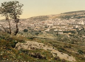38-Ottoman Palestine (1890-1900) From the east, Nazareth, Holy Land.resized.jpg